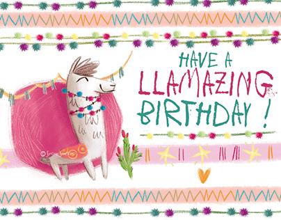 -LLAMA WISHING CARDS-