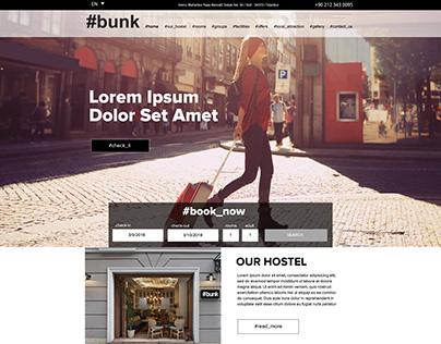 Bunk Hostel Website Design