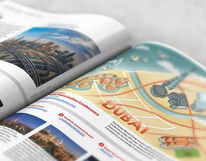 Dubai map illustration