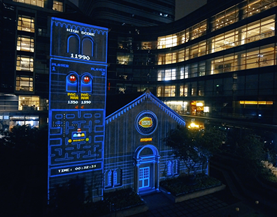 PAC-MAN INTERACTIVE PROJECTION MAPPING