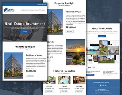 Mailchimp newsletter Design for Real Estate Company