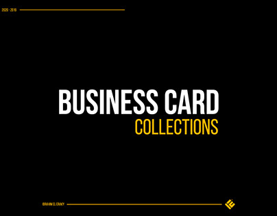 Business card collection 2020