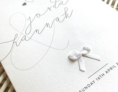 Jordan & Hannah Wedding Invites