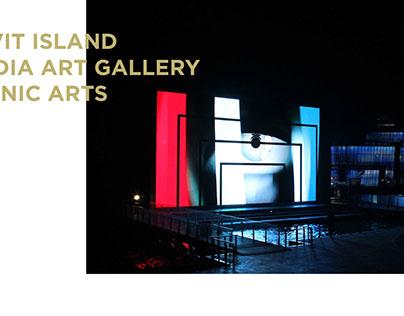 2010 FLOATING ISLAND / MEDIA ART GALLERY  MEDIA FACADE