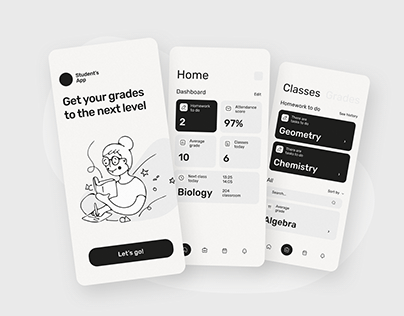 Student's App Mobile UI UX