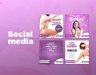 Social Media - Amare saúde e bem estar
