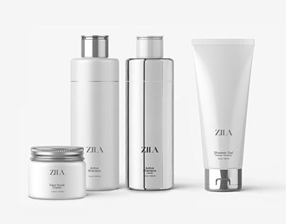 ZILA cosmetics package design