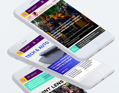 The Quint website design