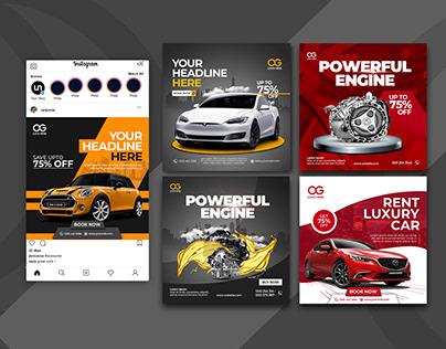 Rent a Car Social Media Posts | Banner
