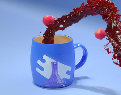 Apple juice 3D