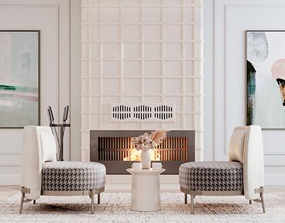 Creamy livingroom