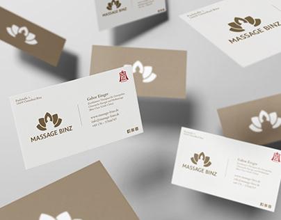 Business card for Massage Studio