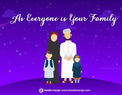 Eid Mubarak - 2D Animation Video - DoodleMango