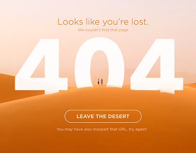 DailyUI #008 - 404 Page - Lost in the Desert
