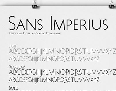 Typeface Design: Sans Imperius