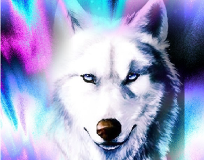 Wolf full of color