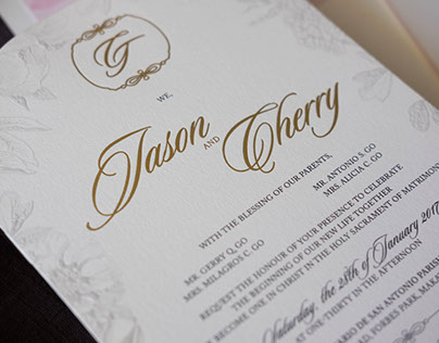 Wedding Invitation: Cherry and Jason