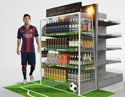 Posm floor stand for Pepsico.