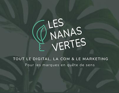 Logo & visuel identity Les Nanas Vertes