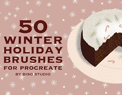Winter Holiday Brushes for Procreate