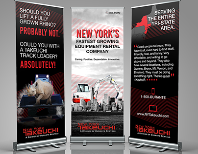 New York Takeuchi Roll Up Banners