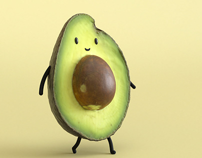 CG Food - Walking Little Avocado