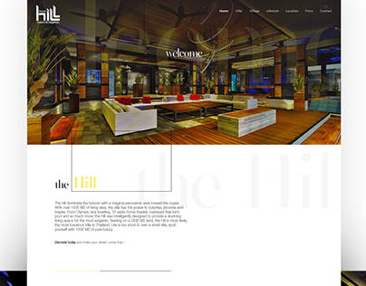 The Hill Villa Landing Page