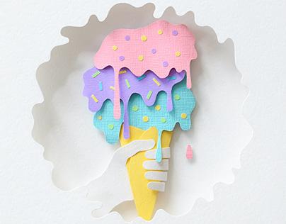 Ice Cream | paper art