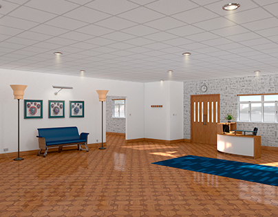 Partition wall and drop ceiling