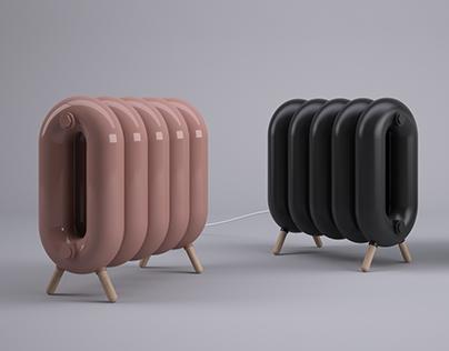 Fatty cast iron radiator