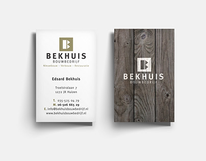 Ontwerp huisstijl en website | Bekhuis Bouwbedrijf
