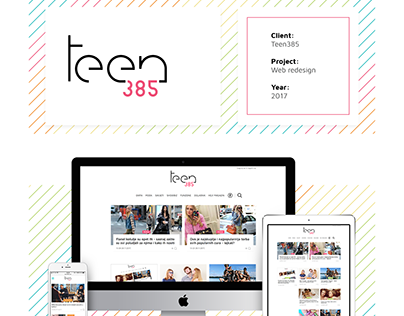 Teen385 Web redesign