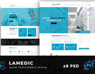 Lamadic - Health & Medical PSD Template
