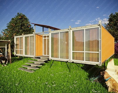 Проект жилого дома на основе пяти контейнеров