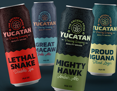 Yucatan Brewing Co. startup branding