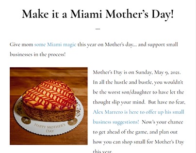 Make it a Miami Mother's Day!