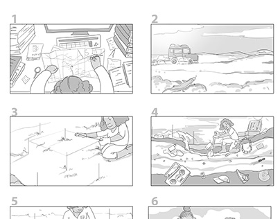 Storyboard for animation