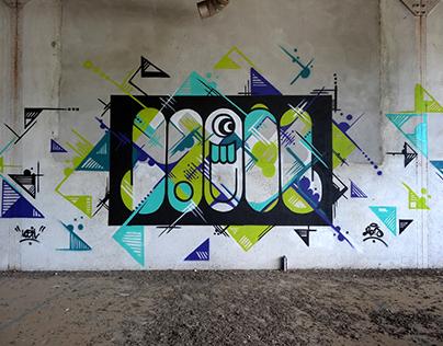 Wall painting Loeil