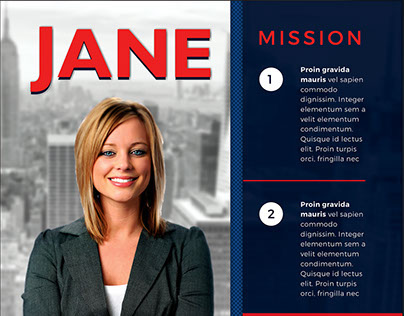 Vote Jane - 5X7 Political Flyer & Mailer Template On Behance