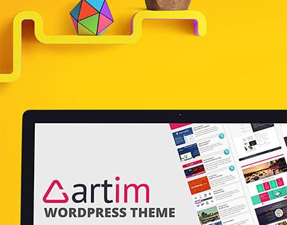 Artim Wordpress Theme, Themeforest Landing Page Design