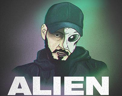 alien Inkonnu illustration by agoulzi mohamed