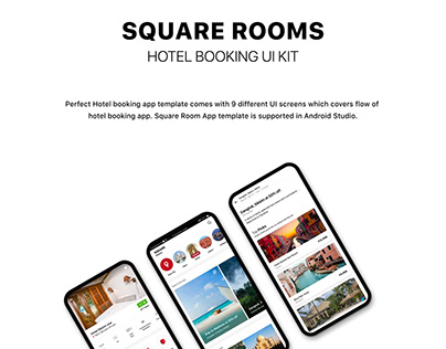 HOTEL BOOKING UI KIT with ANDROID CODE