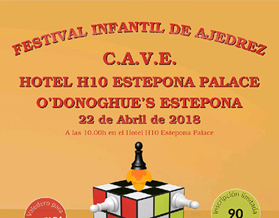 Cartel Festival Infantil de Ajedrez