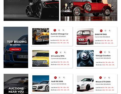 Car Auction Web Design