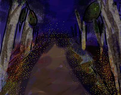 Capturing the fireflies glowing in the woods