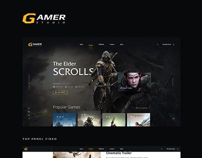 Gamer Studio Landing Page
