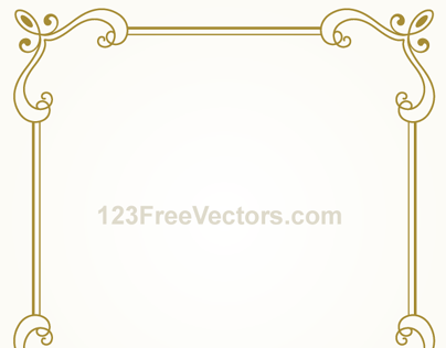 Vintage Gold Frame Design Vector Graphics On Behance