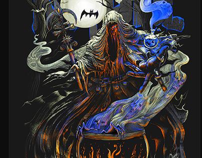 Metal Merch. T-Shirt Design Ritual by Julia Art
