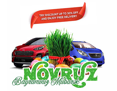 Novruz Bayram banners for a car rental company