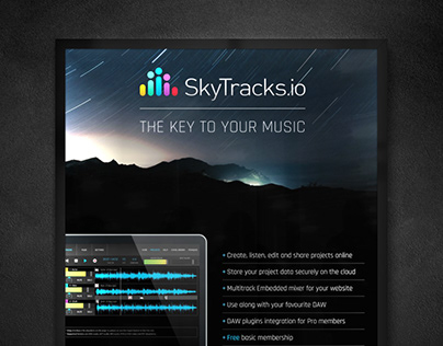 Skytracks.io - Branding, UI/UX Design & Ad Campaign